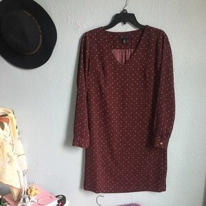 Tommy Hilfiger maroon dress